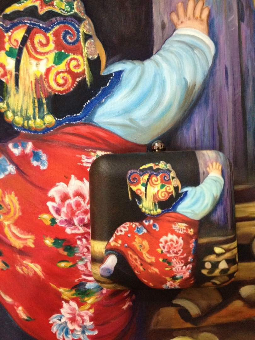 One of the examples where life imitates art- yes you can buy Shailly's art and also wear the same art piece with her bag!