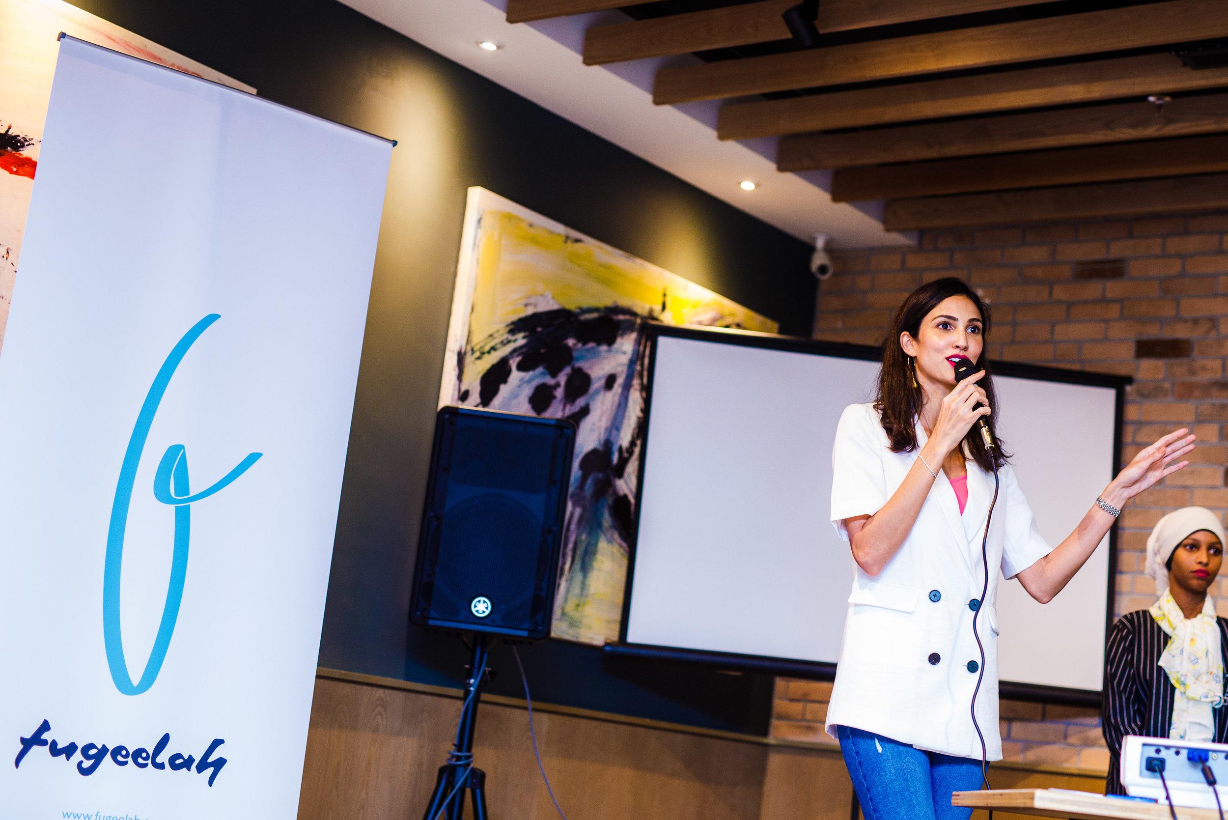 Deborah Henry at the launch of Fugeelah!