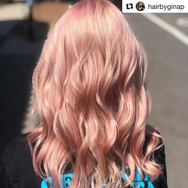 #Repost @hairbyginap with @get_repost ・・・ 🍭Cotton candy 🍭 thank you @kaitlynnekubisch for always having fun with me!!!! #hairstylist #venturahairstylist #pinkhair #loveyourhair #hairbyginap
