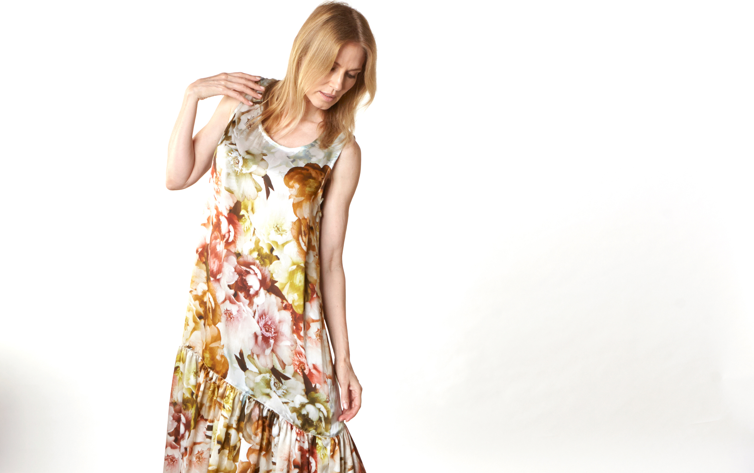 Salome Dress in Borghese Italian Silk