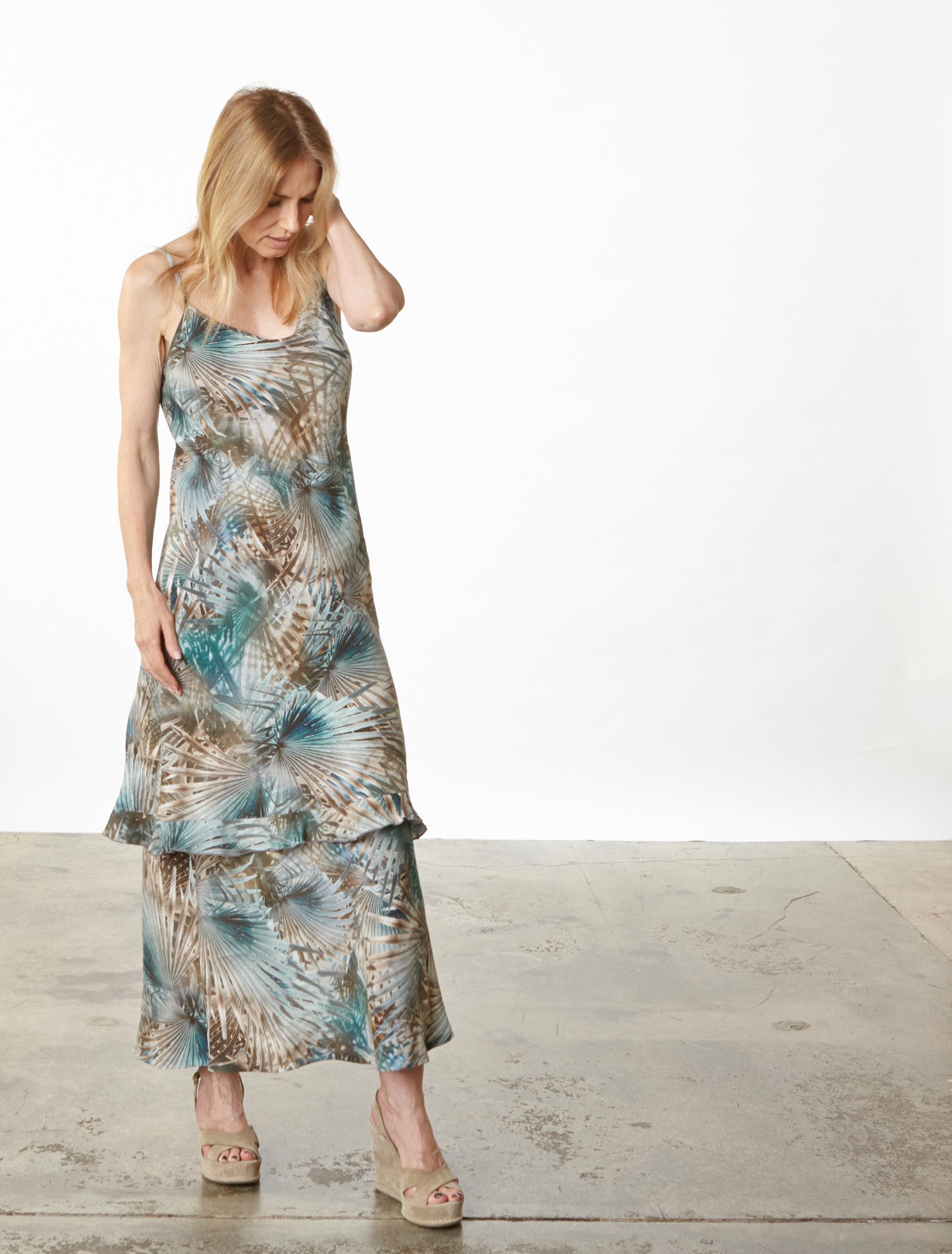 Giselle Dress, Long Bias Skirt in Palma Italian Linen