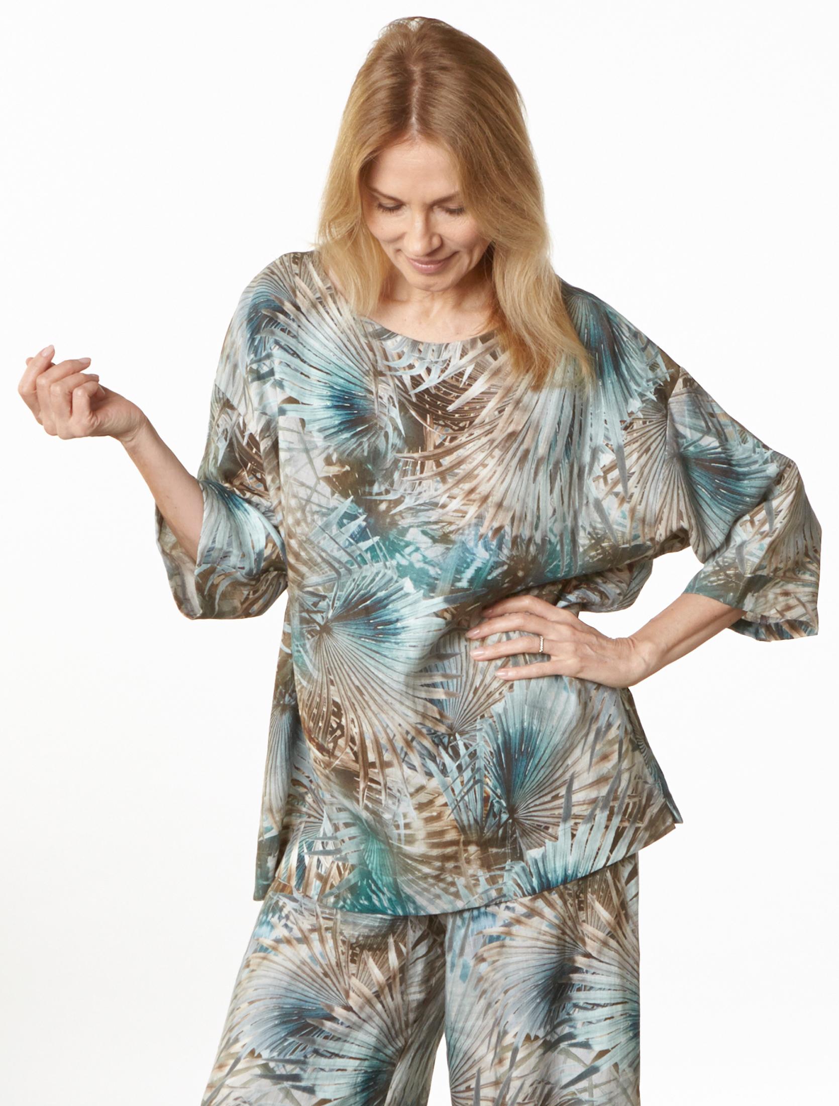 Resort Shirt, Long Full Pant in Palma Italian Linen
