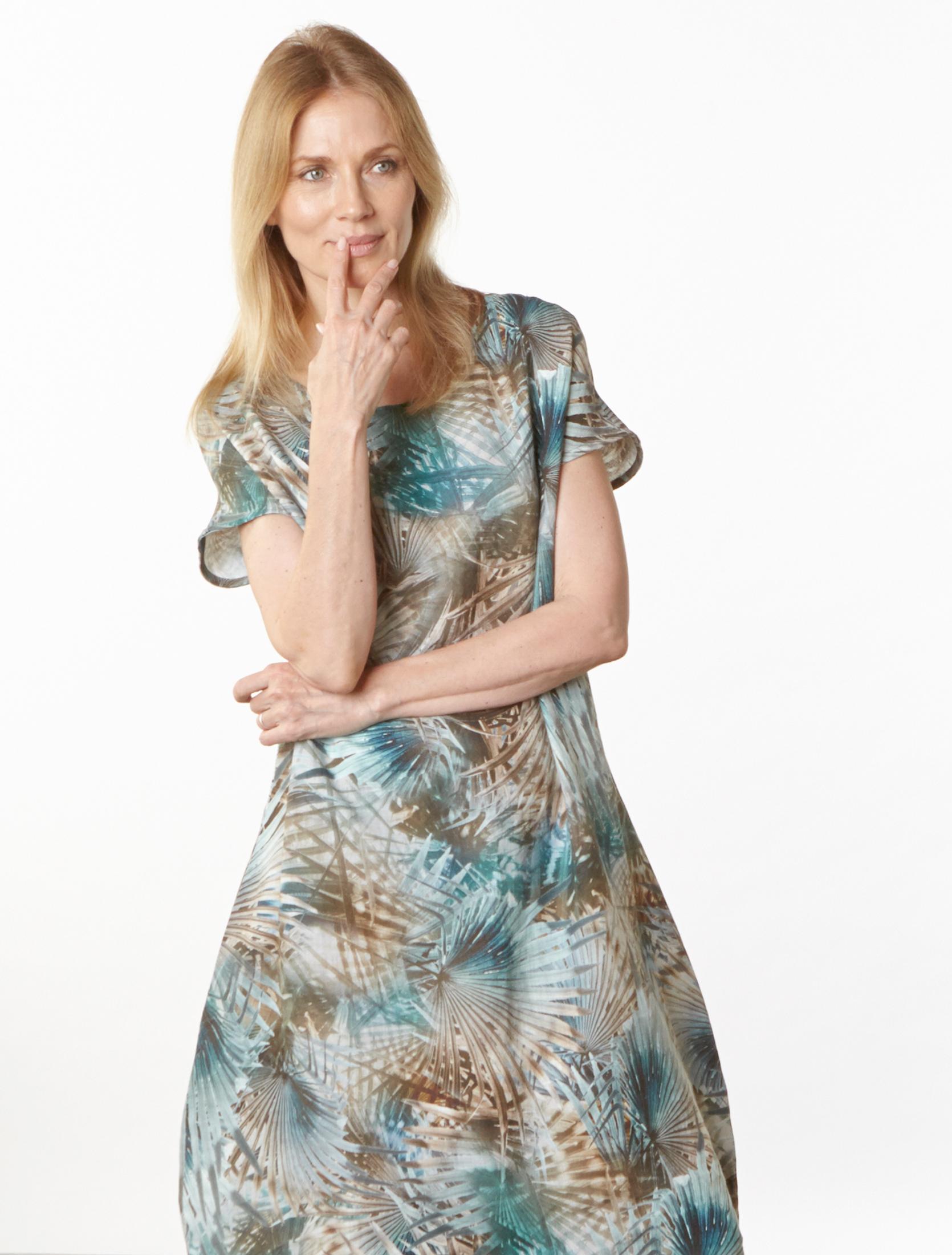 Bubble Dress in Palma Italian Linen