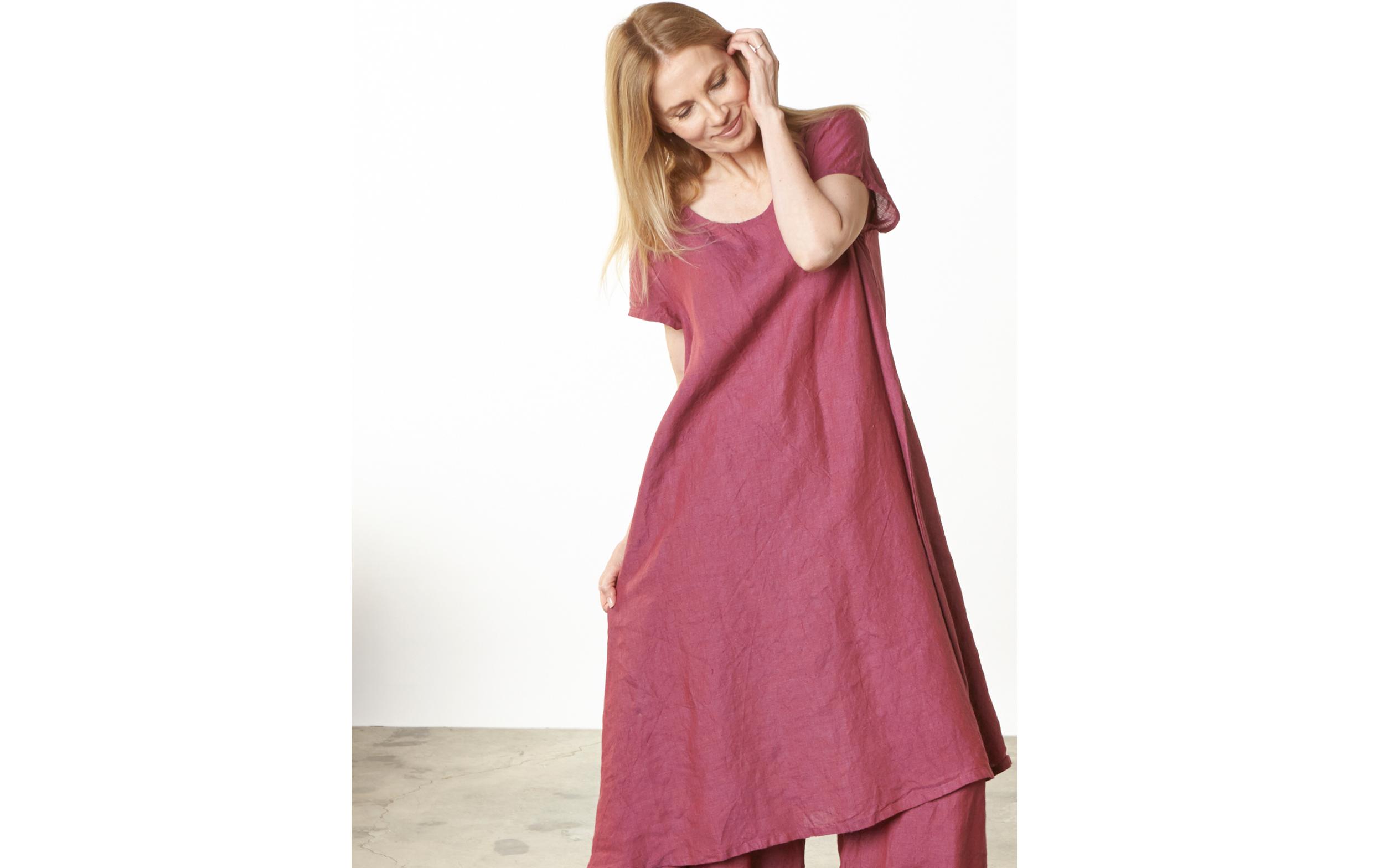 Winslow Dress, Long Full Pant in Granada Cross Dyed Linen