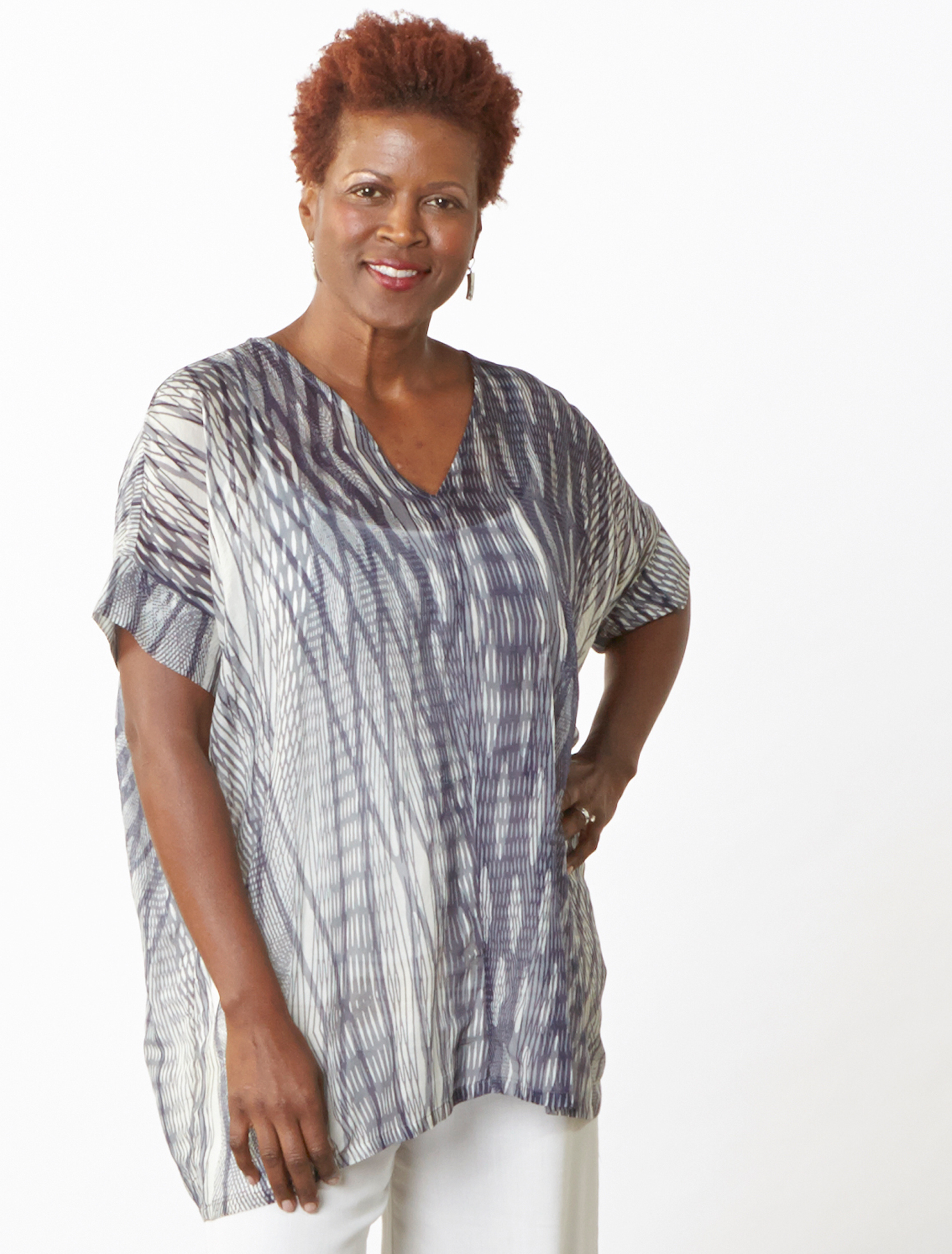 Paola Tunic in Netto Italian Cotton/Silk
