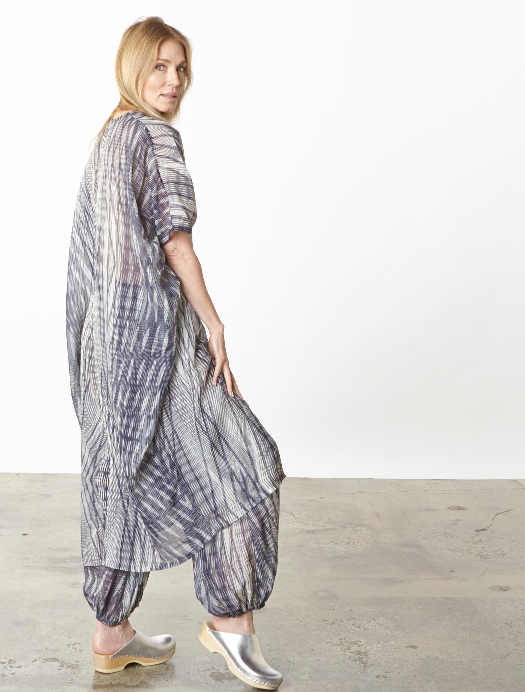 Petra Dress, Bell Pant in Netto Italian Cotton/Silk