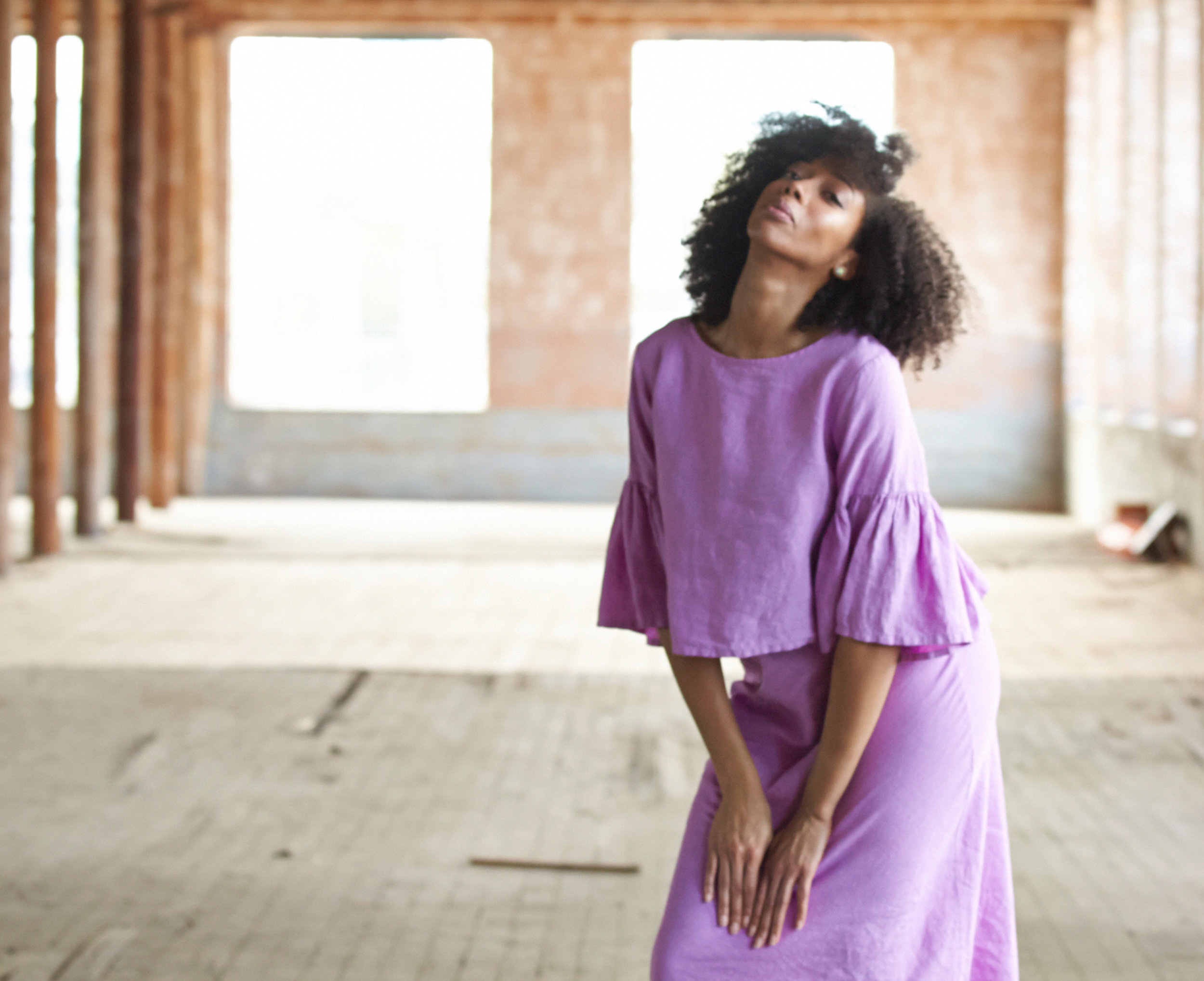 Frida Shirt, Long Bias Skirt in lxia Light Linen