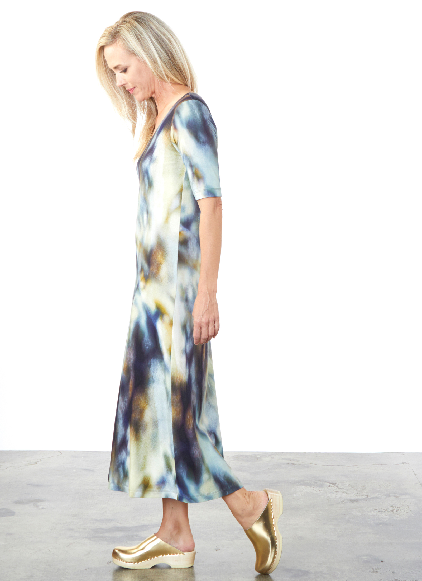 S/S Bobbi Dress in Rio Print Jersey