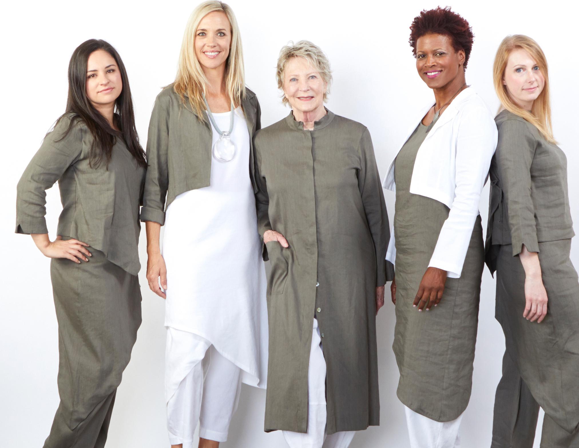 Hathaway Jacket, Euna Dress, Sofia Pant, Oliver Pant in White, Mia Shirt, Euna Dress, Sofia Pant, Hathaway Jacket, Hall Jacket in Torre Ready for Bologna