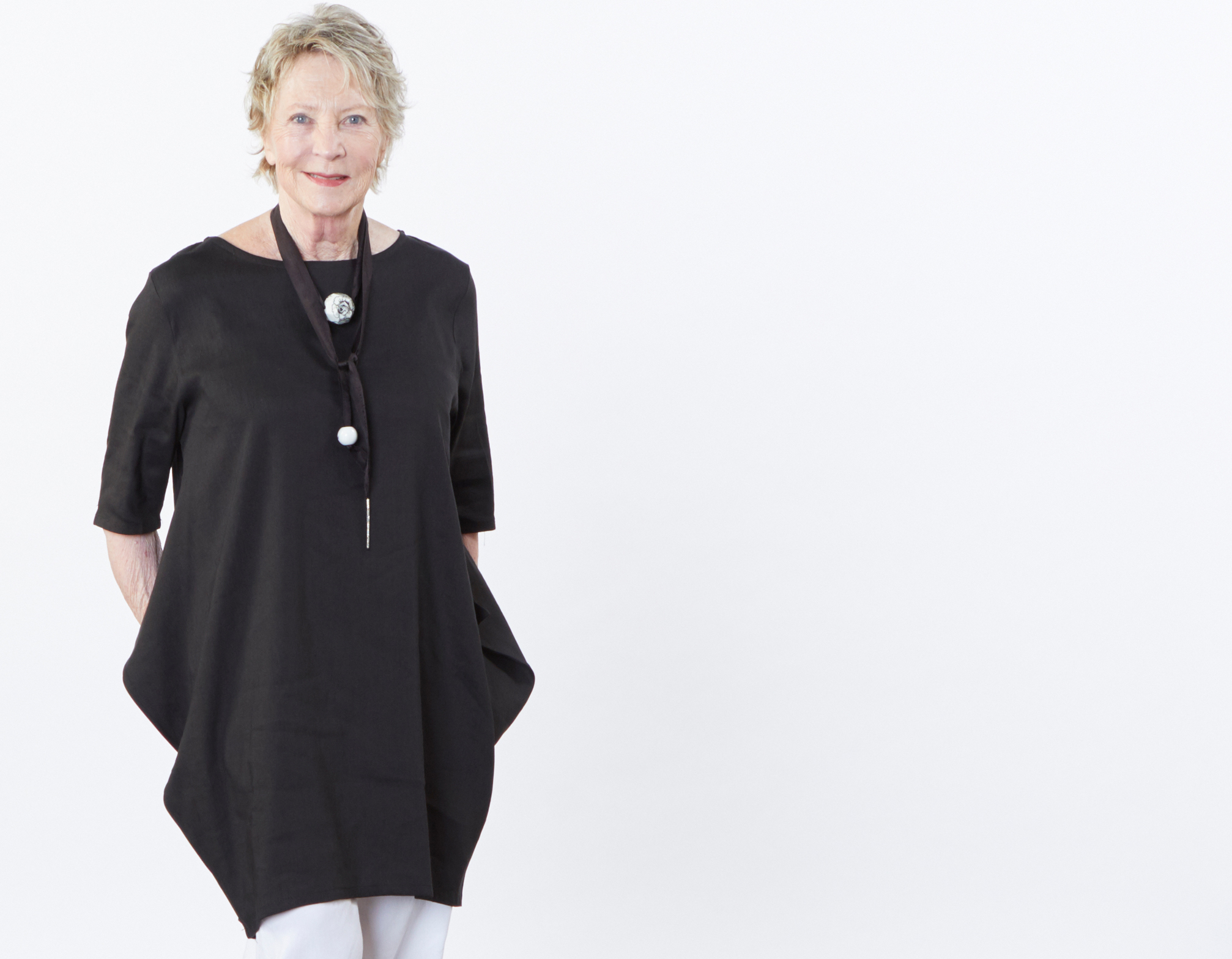 Conrad Tunic in Black Ready for Bologna