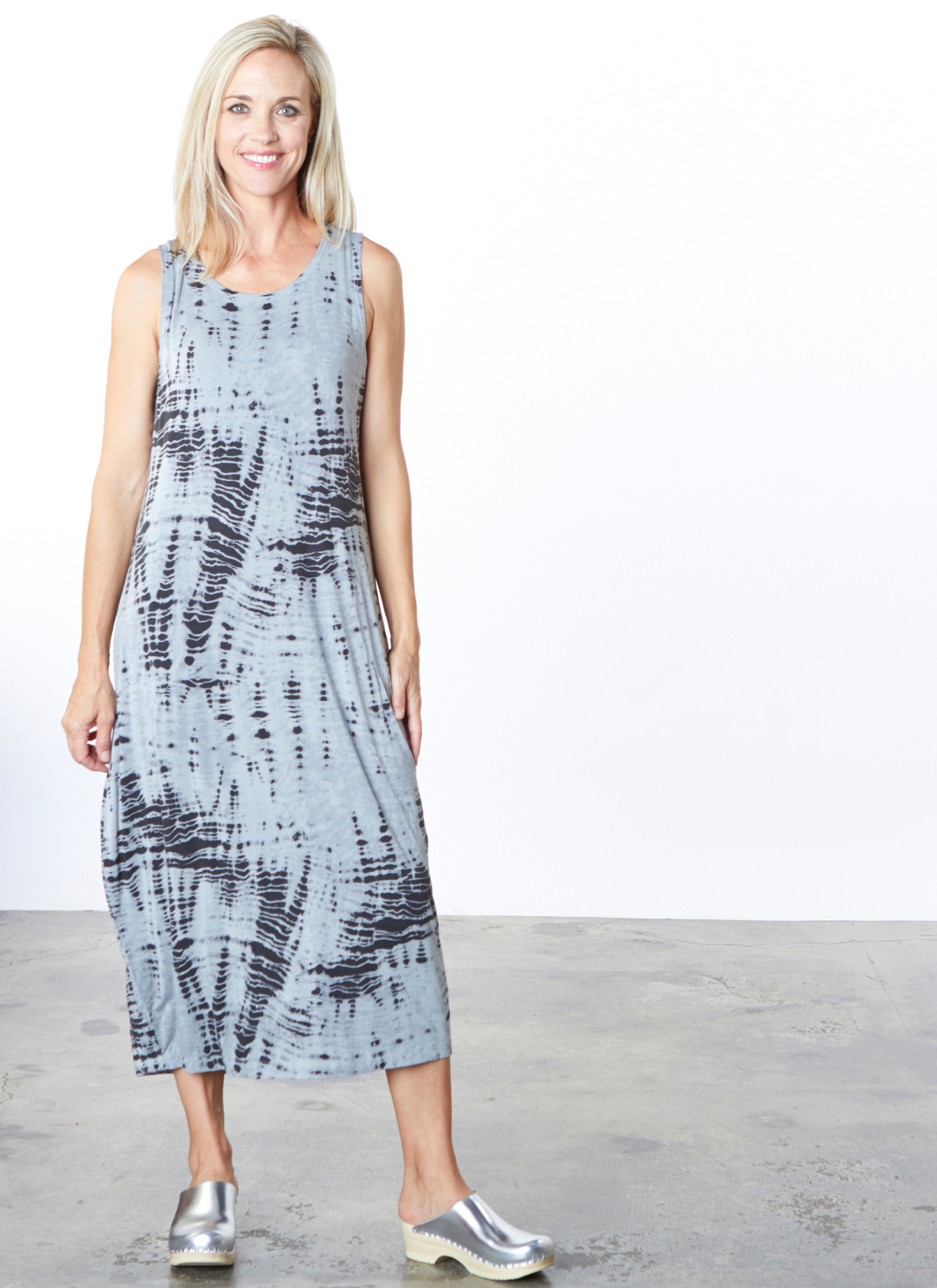 Pippa Dress in Pietra Aguilos Viscose Jersey
