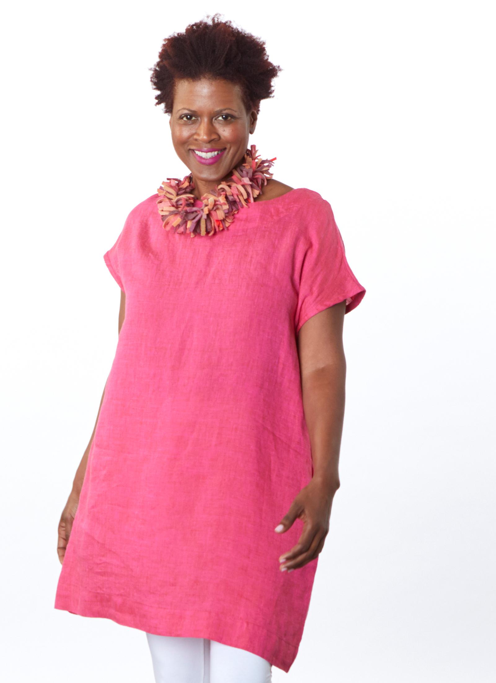 Ansel Tunic in Anacapri Cross Dyed Linen