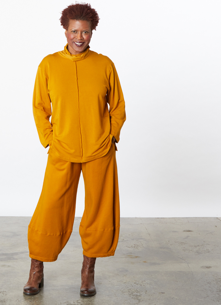 Couch Shirt in Qilan Bamboo Terry, Oliver Pant in Qilan Bamboo Fleece