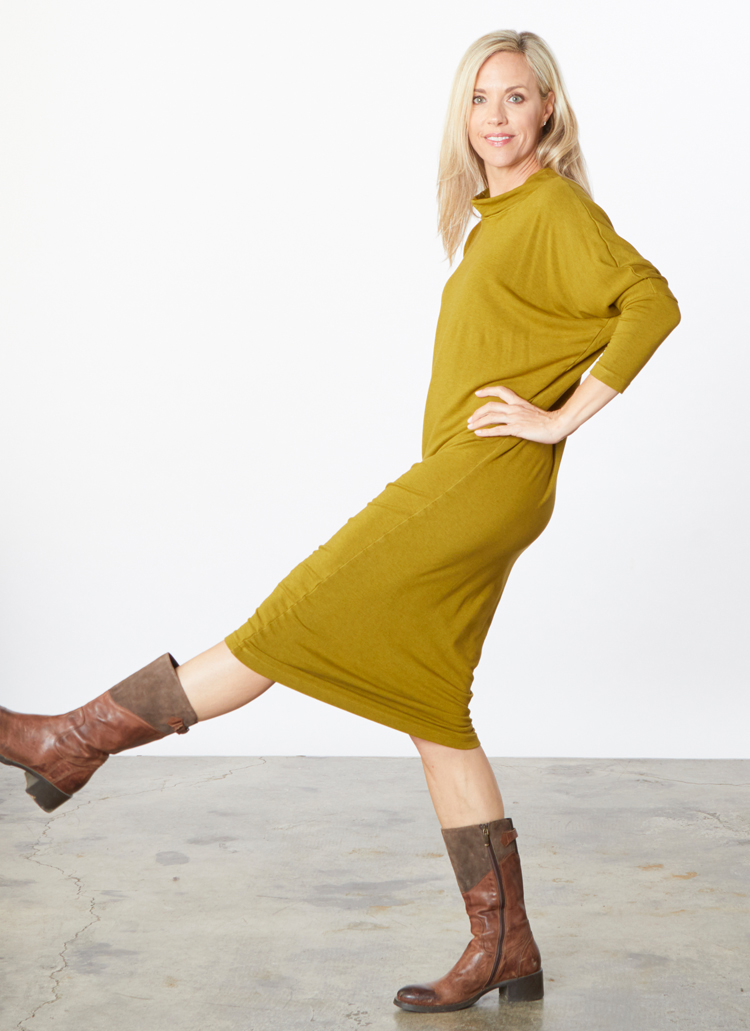 Ilse Dress in Oolong Grey Terry