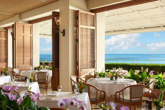 Orchids restaurant at Halekulani Hotel