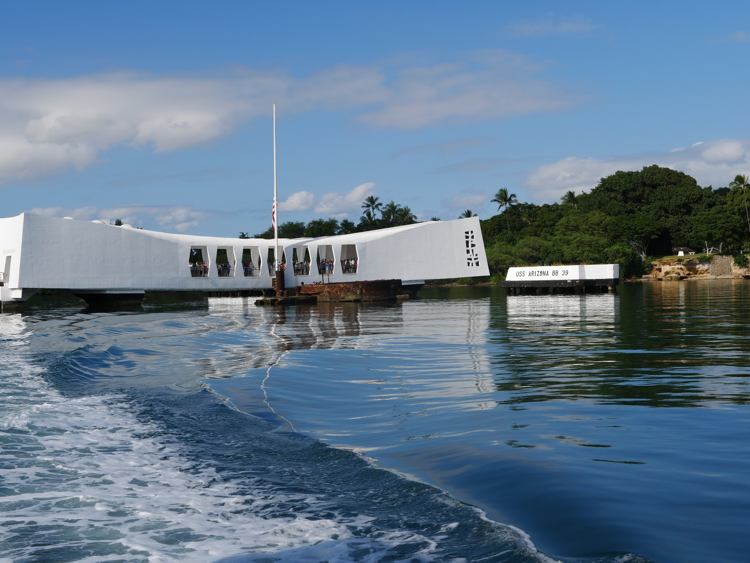 Just a short boat ride to the USS Arizona Memorial