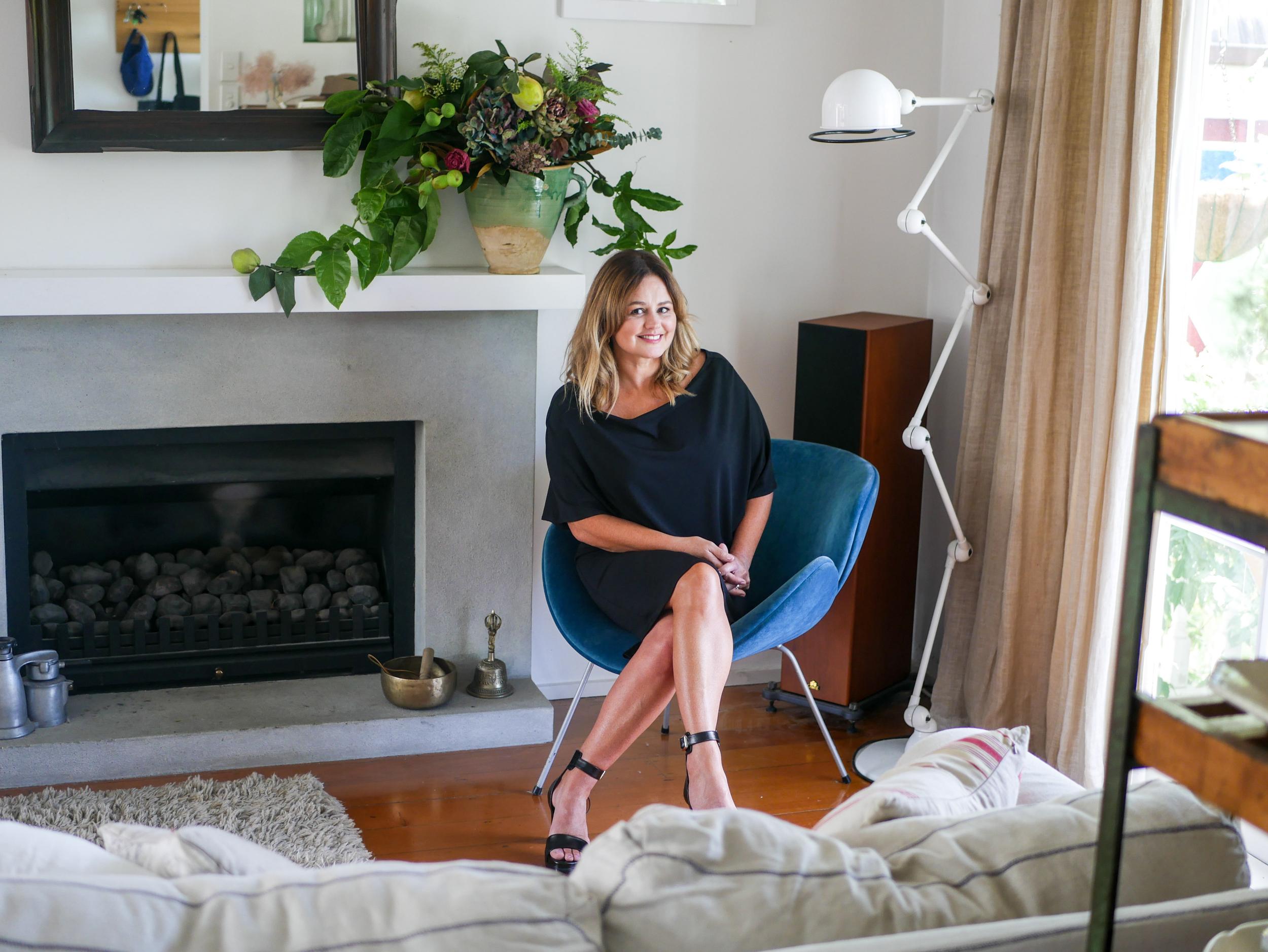 Jones at home in her Auckland villa.
