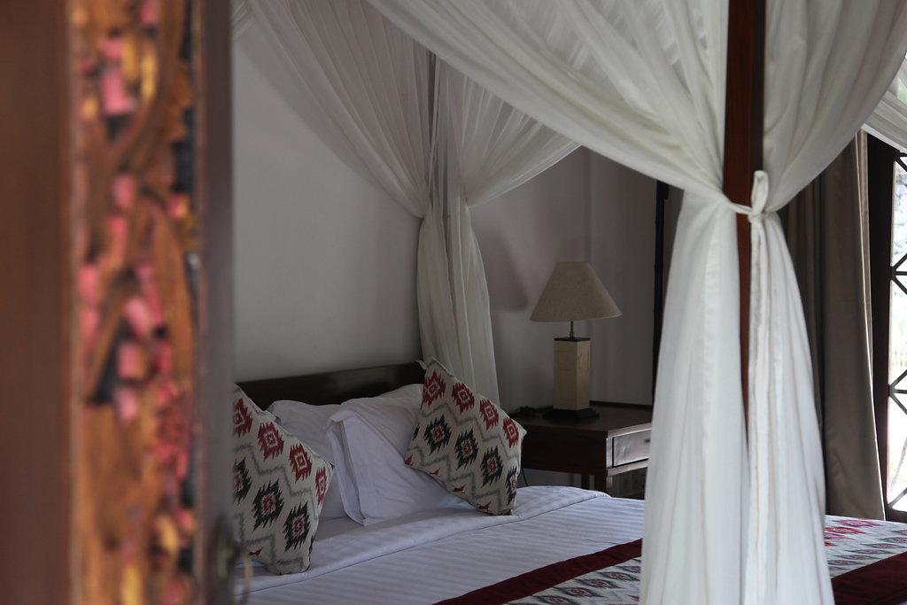 Bed in Bali villa