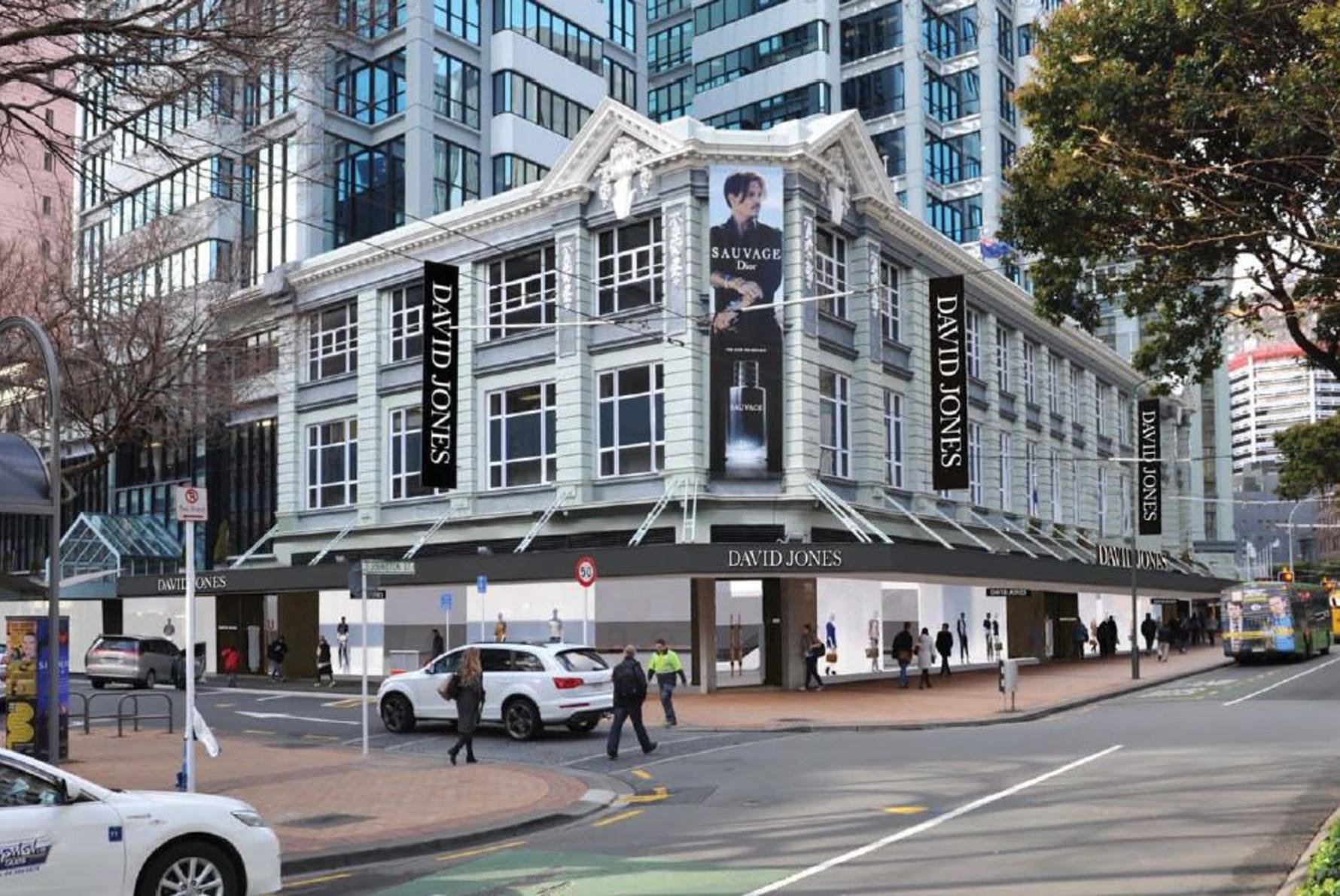 The new David Jones flagship store in Wellington