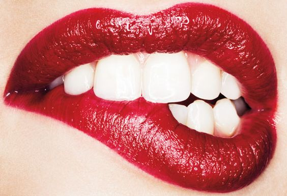 A classic red lip will never go out of style.