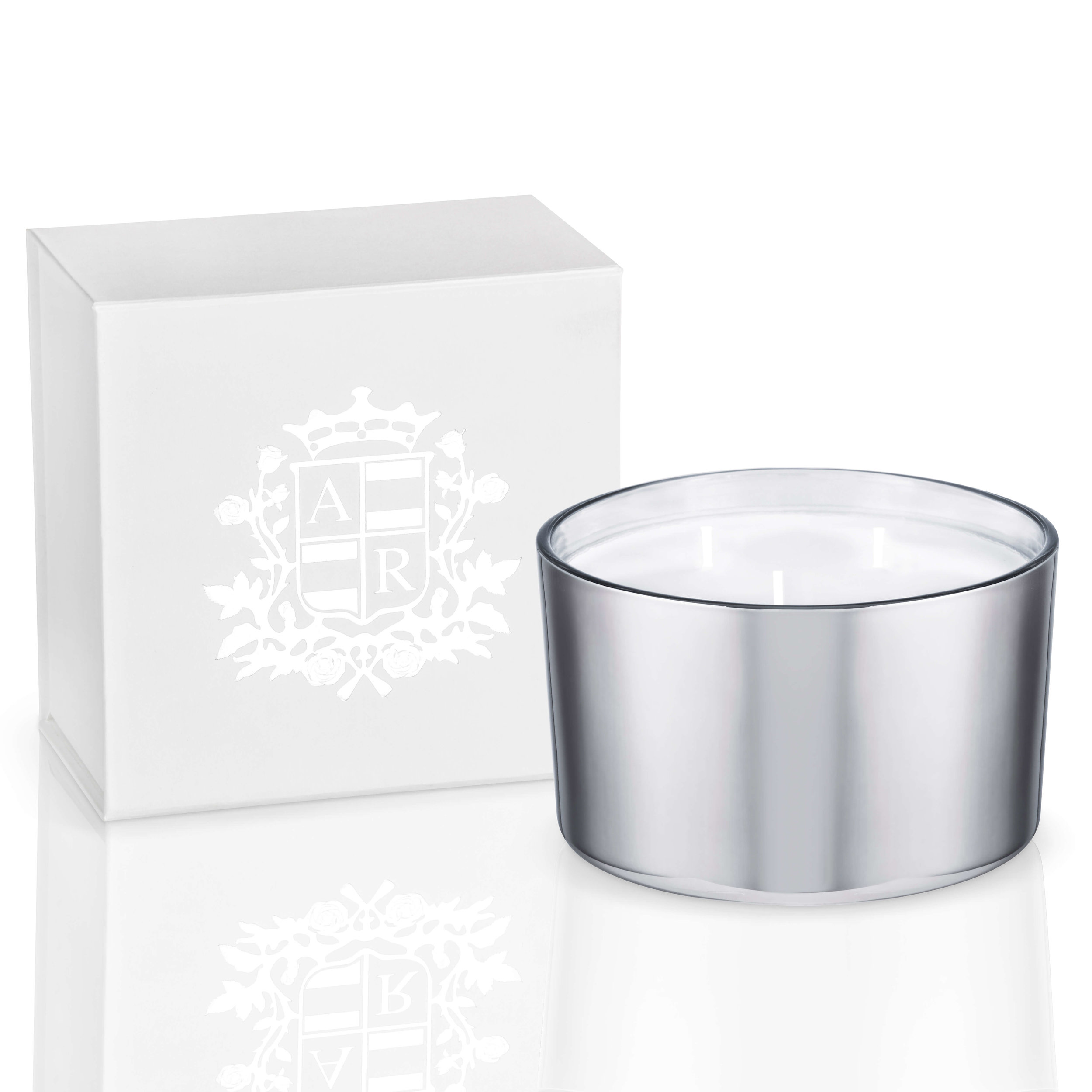 Abbey Rose Ultra Large Three Wick Candle, 500g, Burn Time 70 Hours, RRP $129.silver.jpg