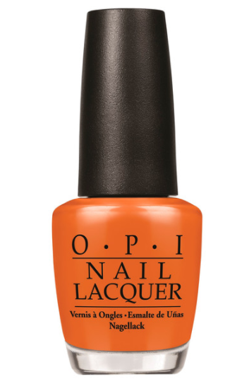 OPI Nail Lacquer Freedom Of Peach in orange bottle and black lid