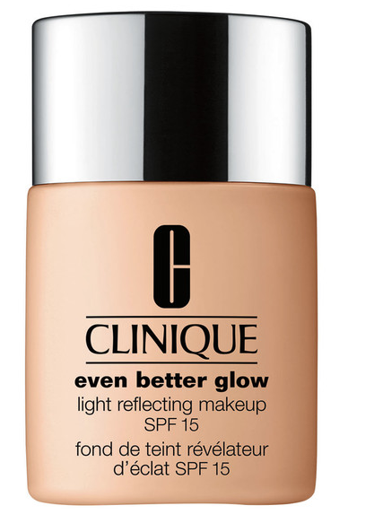 Clinique foundation in beige and silver bottle