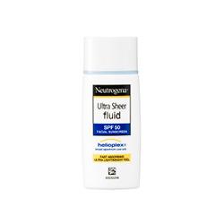 Neutrogena  Ultra Sheer Fluid SPF 50 in white bottle