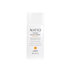Natio  SPF50 Tinted Moisturiser in white bottle