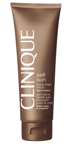 Clinique Body Tinted Lotion, light-medium in brown bottle