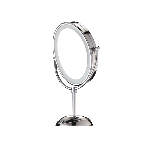 A silver  Body Benefits  Elegance Touch Control Illuminated Mirror