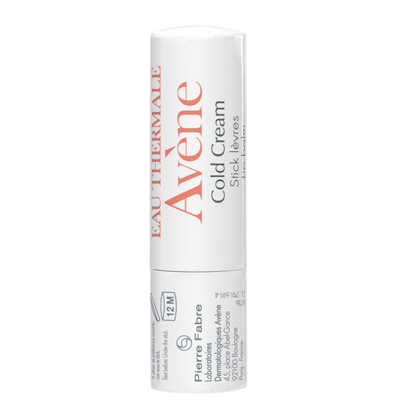 Avene Lip Balm with Cold Cream in white bottle with orange labelling