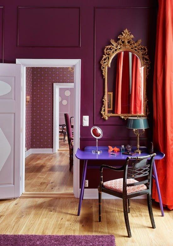 Purple coloured room