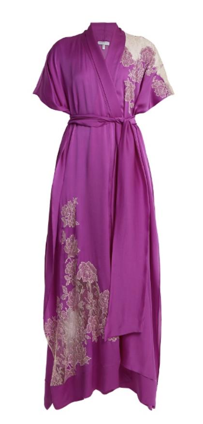 Carine Gilson Lace-applique kimono dress