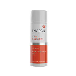Environ  Skin EssentiA Dual Action Pre-Cleansing Oil in a white and orange bottle