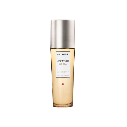 Kerasilk  Control Rich Protective Oil in a clear bottle with silver lid