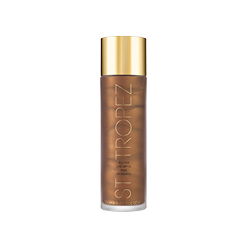 ST Tropez Self Tan Luxe Dry Oil in bronze bottle with gold lid