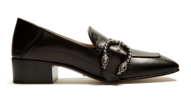 GucciDionysus-buckle leather loafers