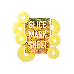 Kocostar pineapple slice mask packaging with pineapple slices arranged around it