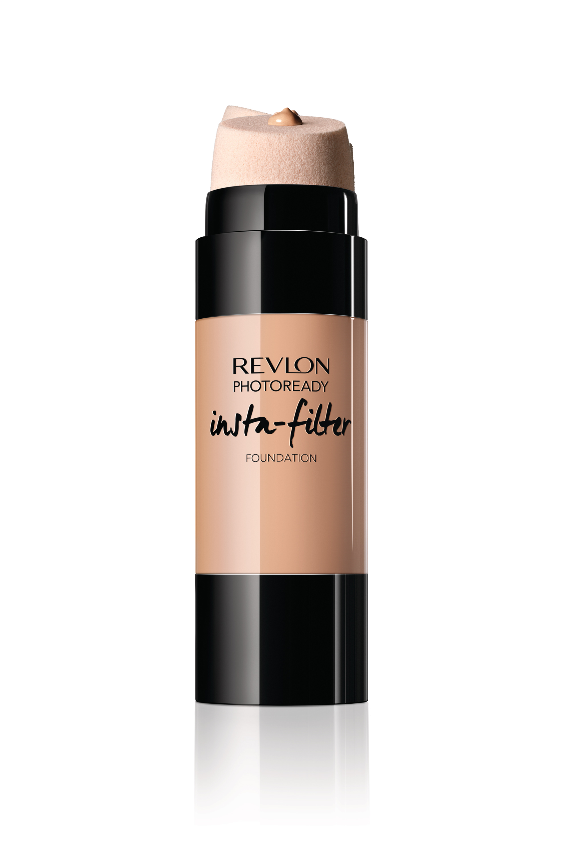 Revlon PhotoReady Insta-Filter Foundation in black and beige bottle