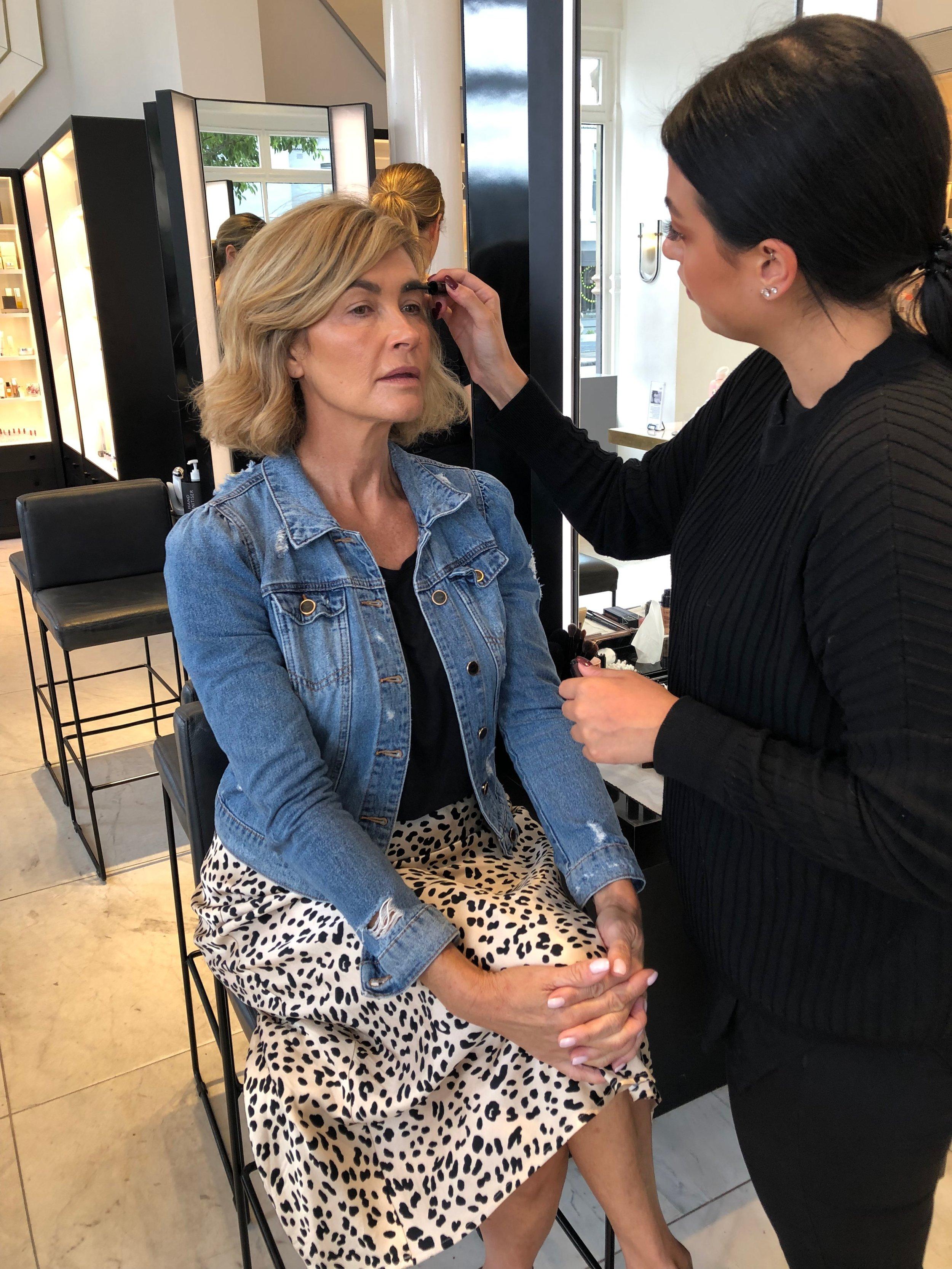 Editor Trudi Brewer at Mecca Cosmetica in Melbourne