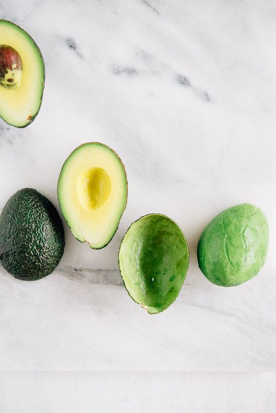 Avocado… - High in glow-giving healthy fats, this fruit is jam-packed with skin-loving vitamins C and E.