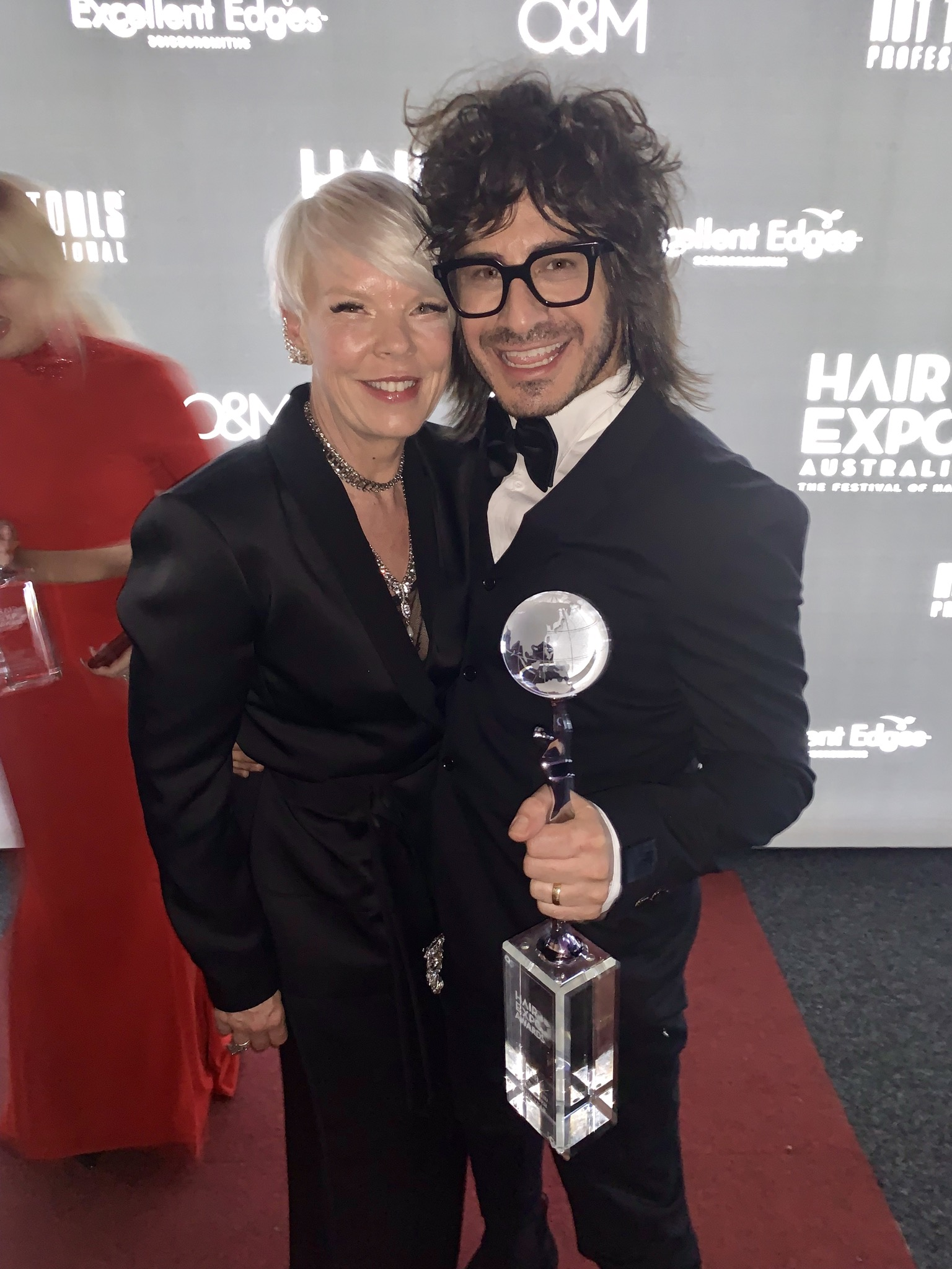 Pato with TV celebrity stylist Tabatha Coffey who was one of the judges at the 2019 Hair Expo Awards