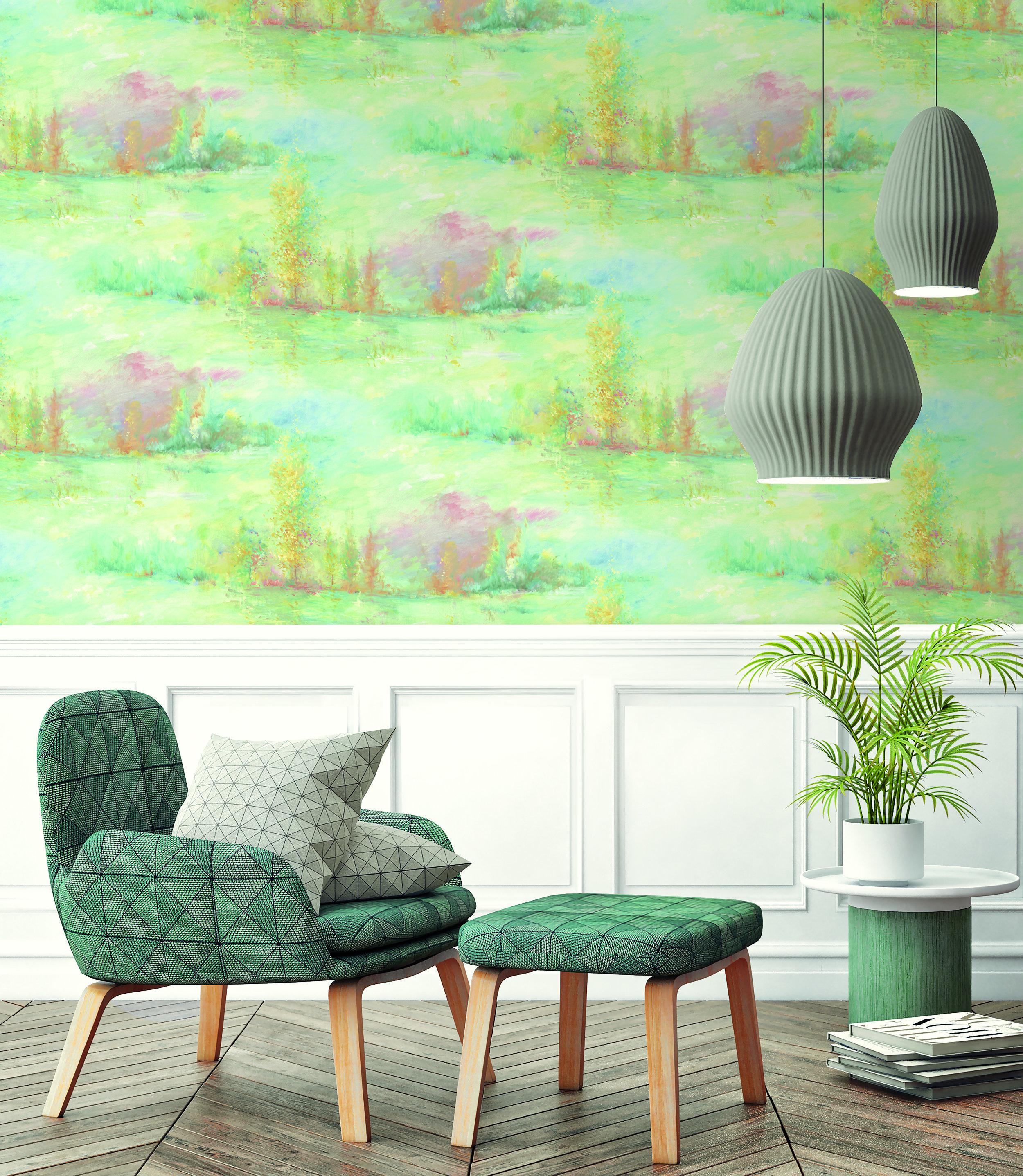Resene green 1B-FI70814 wallpaper from  Resene ColorShops.