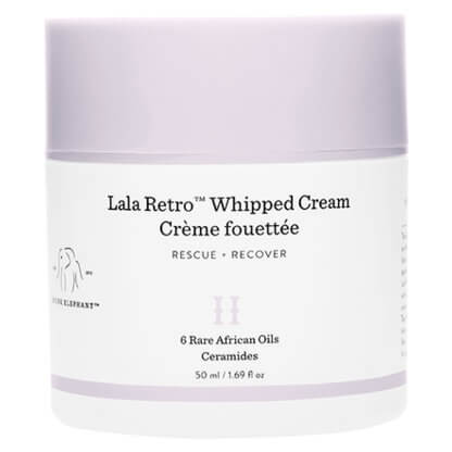 Drunk Elephant Lala Retro Whipped Cream, $103. - It looks and feels a bit like shaving cream, fluffy and super nourishing. This natural jar of goodness is fragrance-free and without silicones and waxes (ideal for sensitive skin). It is packed with plant and vegetable oils, and hydrating fatty acids, this luxe-y cream with quickly restore moisture to your face.