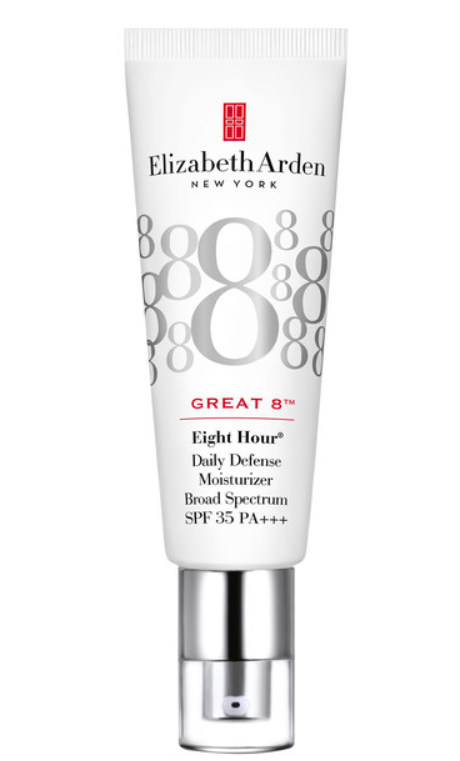 Great 8 Daily Defense Moisturizer Broad Spectrum Sunscreen SPF 35, $69. - Elizabeth Arden Eight Hour cream needs no introduction by the new Great 8 does. Having used an entire tube on a recent holiday, (travel is not kind on the skin) this do-it-all beauty balm-like moisture boost, is a hydrating multi-tasker that soothes, brightens the skin.