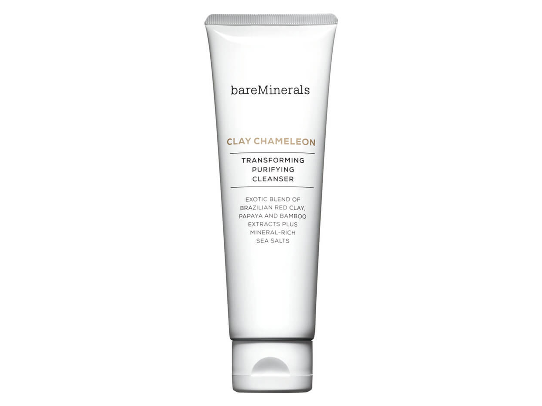 Bareminerals Clay Chameleon Transforming Purifying Cleanser$38 - Massage this gentle clay cleanser into skin, and the blend of purifying Brazilian red clay and mineral-rich sea salts, papaya, and bamboo extracts will clean and clarify your complexion.