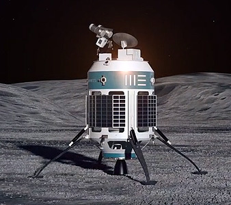 Artist conception of MX-1 on lunar surface