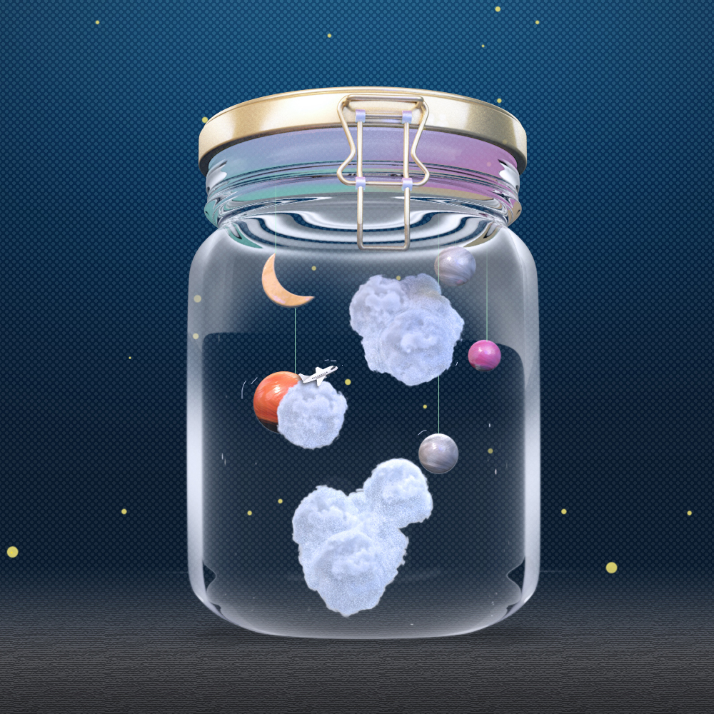 Capturing the galaxy and sky in the jar