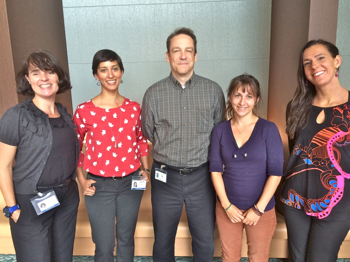The ground-breaking team from AIMC Berkeley. Left to right – Ra Adcock, Shawna Seth, Mike Morgan LAc, Liana Russo, Catherine Provencal.